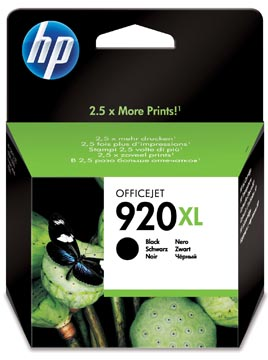HP inktcartridge 920XL, 1.200 pagina's, OEM CD975AE, zwart