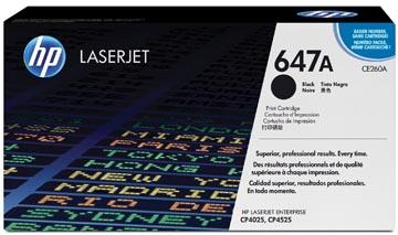 HP toner 647A, 8 500 pages, OEM CE260A, noir