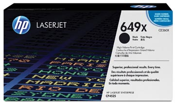 HP toner 649X, 17 000 pagina's, OEM CE260X, zwart