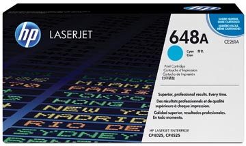 HP toner 648A, 11 000 pages, OEM CE261A, cyan