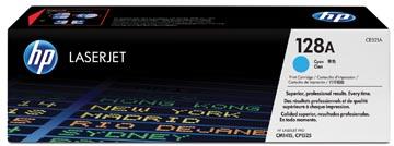 HP toner 128A, 1 300 pagina's, OEM CE321A, cyaan