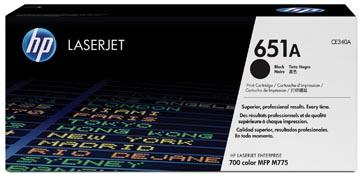 HP toner 651A, 13 500 pagina's, OEM CE340A, zwart