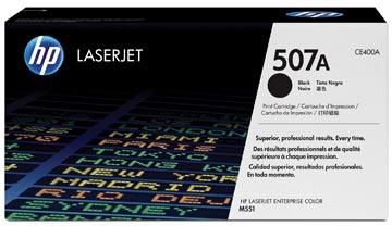 HP toner 507A, 5 500 pages, OEM CE400A, noir