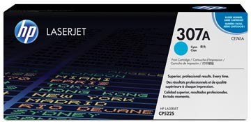 HP toner 307A, 7 300 pages, OEM CE741A, cyan