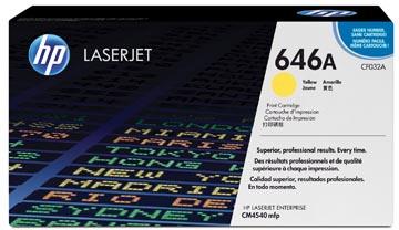 HP toner 646A, 12 500 pages, OEM CF032A, jaune