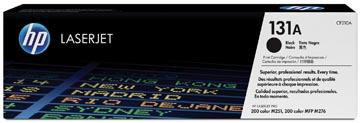 HP toner 131A, 1 600 pagina's, OEM CF210A, zwart