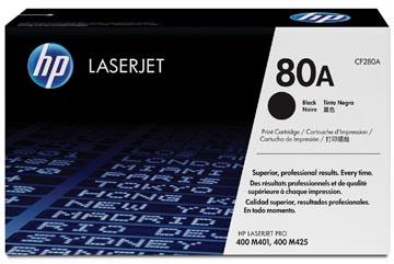 HP toner 80A, 2 700 pagina's, OEM CF280A, zwart