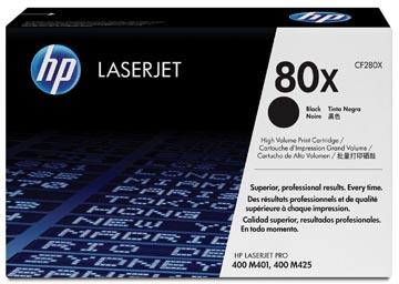 HP toner 80X, 6 900 pagina's, OEM CF280X, zwart