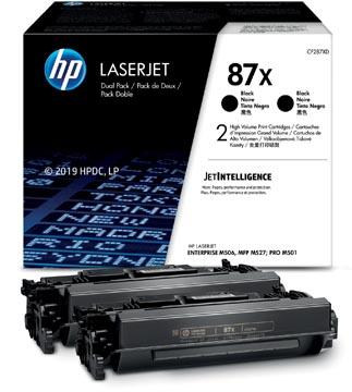 HP toner 87X, 18.000 pages, OEM CF278XD, noir, paquet de 2 pièces