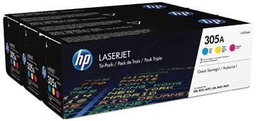 HP toner 305A, 3 x 2 600 pagina's, OEM CF370AM, 3 kleuren
