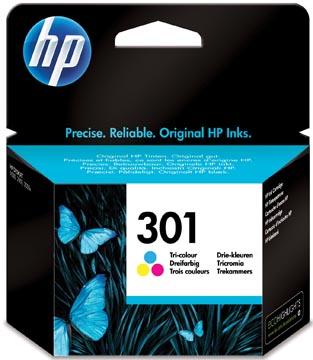 HP inktcartridge 301, 165 pagina's, OEM CH562EE#301, 3 kleuren, met beveiligingssysteem