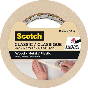 Scotch ruban de masquage classique, ft 36mm x 50m