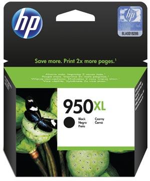 HP inktcartridge 950XL, 2.300 pagina's, OEM CN045AE#301, zwart, met beveiligingssysteem
