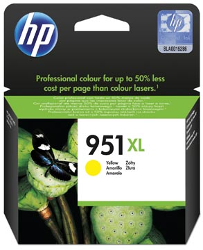 HP inktcartridge 951XL, 1.500 pagina's, OEM CN048AE#301, geel, met beveiligingssysteem