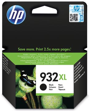 HP inktcartridge 932XL, 1.000 pagina's, OEM CN053AE#301, zwart, met beveiligingssysteem