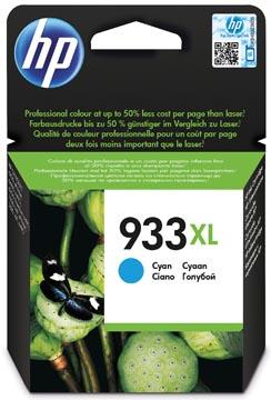 HP inktcartridge 933XL, 825 pagina's, OEM CN054AE#301, cyaan, met beveiligingssysteem
