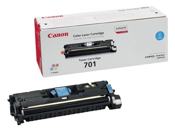 Canon toner 701C, 4.000 pages, OEM 9286A003, cyan