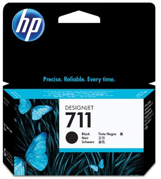 HP inktcartridge 711, 38 ml, OEM CZ129A, zwart