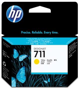 HP inktcartridge 711, 29 ml, OEM CZ132A, geel