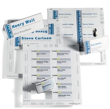 Durable cartes pour badges ft 60 x 90 mm (pour badges 8003, 8106, 8603 et 8612), 160 pièces