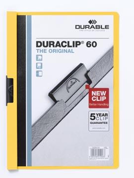 Durable Chemise à pince Duraclip Original 60 jaune
