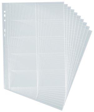 Durable pochette pour cartes de visite pour Visifix, 10 pièces