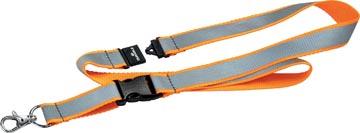 Durable lacet textile réfléchissant, orange