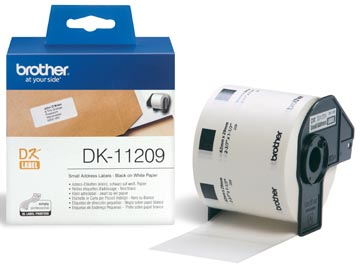 Brother etiketten voor QL, ft 29 x 62 mm, pak van 800 etiketten