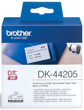 Brother ruban continu pour QL, ft 62 mm x 30,48 m, papier, amovible