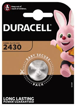 Duracell pile bouton Electronics, CR2430, blister 1 pièce