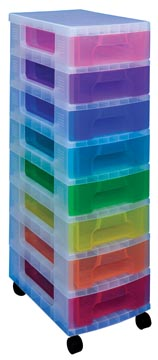 Really Useful Box bloc à tiroirs, couleurs assorties