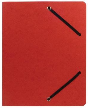 Chemise à élastiques ft 23,5 x 31 cm (pour ft A4), sans rabats, rouge