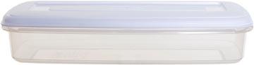 Whitefurze Bacon boîte de conservation 1 litre, transparent avec couverle blanc