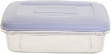 Whitefurze boîte de conservation rectangulaire 0,8 litre, transparent avec couverle blanc