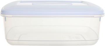 Whitefurze boîte de conservation rectangulaire 2 litres, transparent avec couverle blanc
