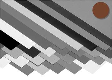 Folia papier à dessin coloré brun