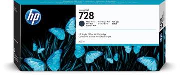 HP cartouche d'encre 728, 300 ml, OEM F9J68A, noir mat