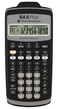 Texas financiële rekenmachine BA II Plus
