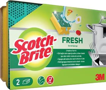 Scotch Brite schuurspons Fresh, met nagelbescherming, pak van 2 stuks