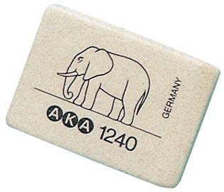 Aka gomme Eléphant format moyen, boîte de 40 pièces