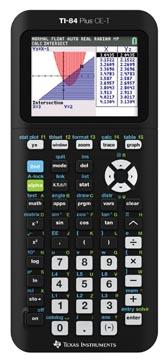 Texas grafische rekenmachine TI-84 Plus CE-T, zwart