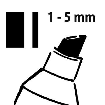 Sigel krijtstift 50 zwart