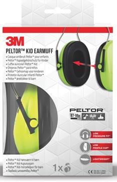 3M gehoorkap Peltor Kid, groen