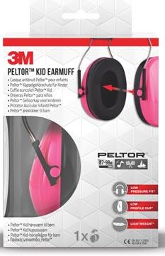 3M gehoorkap Pelton Kid, roze