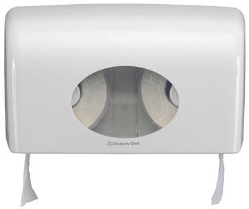 Kimberly Clark toiletpapierdispenser Aquarius, voor kleine rollen, wit