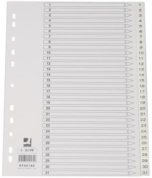 Q-Connect intercalaires jeu 1-31, avec page de garde, ft A4, blanc