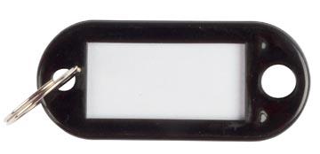 Q-Connect porte-clés, paquet de 10 pièces, noir