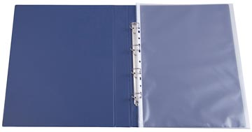 Q-Connect pochette perforée, ft A3 portrait, perforation 11 trous, grainé, paquet de 10 pièces