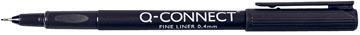 Q-Connect fineliner, 0,4 mm, zwart