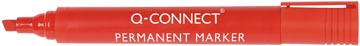 Q-Connect permanente marker, schuine punt, rood